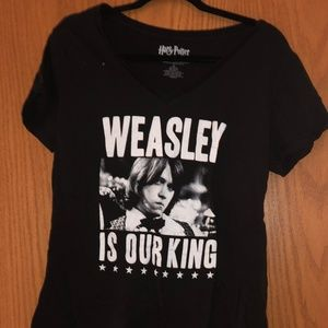 "Hot Topic Harry Potter ""Weasley is Our King"" Top"